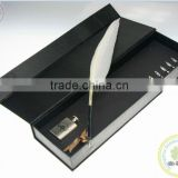 Promotional White Quill Pen Set With Your Custom Logo Printing