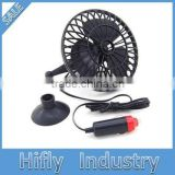12V Strong Full Seal Oscillating Car Automobile Powered Fan Car Truck Vehicle Shake Head Air Fan Suction Cups Hold