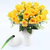 18 heads Artificial flowers rose silk wholesale hydrangea