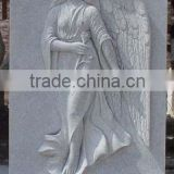 High quality white marble angel tombstones headstones hand carved stone sculpture from Vietnam No 10