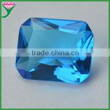 Blue octangle shape diamond cut sapphire glass gem stones for decorating