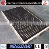 China industry of anti slip anti fatigue rubber drainage mat kitchen floor mat