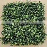 Wholeselling Interior Decorative Artificial Plastic Boxwood Grass Mat Hedge Mat in Green