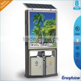 New series solar energy scrolling light box and recycling waste can                                                                         Quality Choice