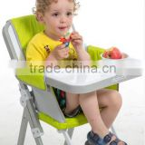 2015 hot model high quality folding portable plastic baby high chair