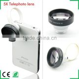 Universal Clip 5x Telephoto Telescope Mobile Phone Lens for iphone 4 5S Samsung S3 Note2 Android phones