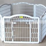 Wholesale Portable Dog Fence White Plastic Pet Dog Pen With 6 Panels                                                                         Quality Choice