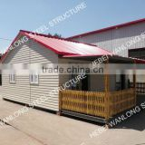 Your final choice for big prefabricated villa with embossing board for outside decoration!