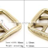 China wholesale factory double pin belt buckle Antique Brass Custom Name Bulk Double Pin Belt Buckle