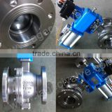 Q641H High Quality Two Piece Pneumatic Flange ball valve