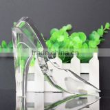 beautiful transparent crystal shoes figurines gifts