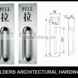 Stainless steel Push and Pull handle with Saudi Arabia & English printing Plate for wooden door