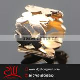 2015 fashionable 18k gold plated engagement butterfly ring
