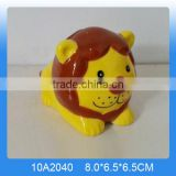 Lovely ceramic lion animal money box,ceramic lion piggy banks for wholesale                                                                                                         Supplier's Choice