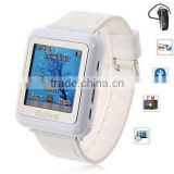 "Watch cell Mobile Phone With Bluetooth + FM + 1.3"" full touch screen + Camera + Expand memory + Triband"