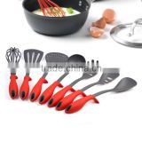 7-Piece FDA LFGB Nylon Cooking Utensils Sets With TPR Handle OEM & ODM Kitchen Tool Gadgets