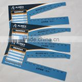 Promotional gift flexible pvc ruler, full color logo printing on 2 sides flexible plastic ruler