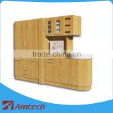 Fashion designed large AM-20-A dental drawer cabinet for hospital/clinic wooden customized dental cabinet