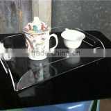 2015 NEW STYLE Acrylic Cup Holder Tray/durable acrylic wine glass holder tray/acrylic serving tray