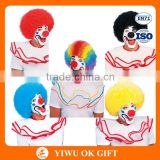 Carnival Funky Curly Masquerade Party Rainbow Clown Afro Wig