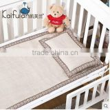 100% linen flax baby and child mat baby pillow & bolster set for summer with pillow