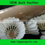 wholasale duck feather top training shuttlecocks extremely durable shuttlecocks badminton