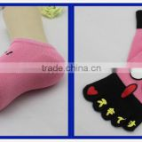 factory custom baby socks cotton wholesale pink baby face cartoon style with five toe