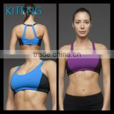 Hot design supplex fabric sexy ladies sports bra with mesh panel on both sider fitness wear Office In Unite State (USA)
