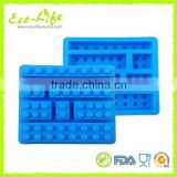 Funny Mixed Brick Blocks Square Silicone Chocolate Mold Silicone Ice Cube Tray, Ice Cube Maker