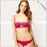 Red underwired micro string bikini