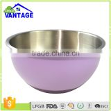 Highly quality Colored stainless steel kitchenware salad mixing bowl with lacquer coated