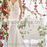 2016 Luxury New Style Sexy Mermaid Wedding Dress High Quality Beaded Crystal See Through Back With Buttons Free Shipping ML050