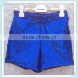 New Hot Shorts Sequin Girl Shorts Sweet Bow Front Summer Short Shorts Soft Knit Royal Blue Fashion Baby Kids Girl Short Pants