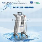 Local Fat Removal Vertical HIFU Machine / High Intensity Slimming Reshaping Skin Lifting Focused Ultrasound Machine For Loose Weight Painless
