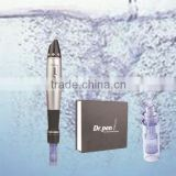 rechargeable 12/9 needles nano cartridges derma pen electric auto mirco needle therapy dermapen derma stamp