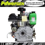 Best Price!!! POWERGEN 192FE Electric Start Air Cooled Vertical Type Single Cylinder Horizontal Shaft Motor Diesel 14HP
