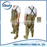 widely used for construction of water conservancy facilities OEM plastic waterproof chest high waders