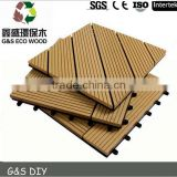 Eco-friendly recycled material WPC Interlocking DIY Decking Tiles garden wpc decking floor