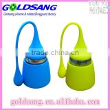 Green Silicone Tea Infuser Leaf Handle with Steel Ball