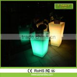 Smart App ccontrol colorful Flower pot LED remote control flower pot waterproof outdoor LED vase light illuminated LED plant pot