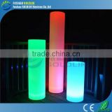 GLACS Control RGB True Color Changing Decoration Cylinder LED Lamp Pillars Battery Operated Floor Lamps