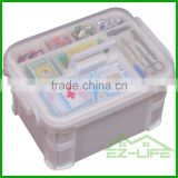 PP plastic home multi-compartment divided first aid waterproof carrying medical plastic storage box/container/kit