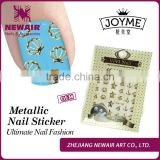 2016 nail art supplies girl top designs sticker metalic nail decals