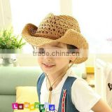 Fashion Design Cow Boy Straw hat for Childern