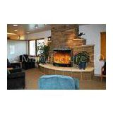 Adjustable Flame Brightness Electric Wall Fireplace Heater With Remote