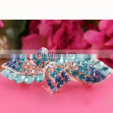 Bow Design Fancy Colorflu Rhinestone hair clips