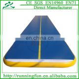 2015 custom commercial outdoor sport games tumbling trampoline inflatable air track for gymnastics training