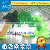 Golden supplier finish line arch advertising inflatable gate for fun