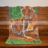Promotional Custom Print Beach Towel China Factory Cotton Velour Reactive Print Beach Towel Pareo