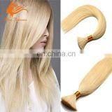"Bleach Blonde Remy Real Hair 100g/pc Brazilian Bulk Hair Extensions Without Weft 10""-24"" Virgin Human Hair Bulk"